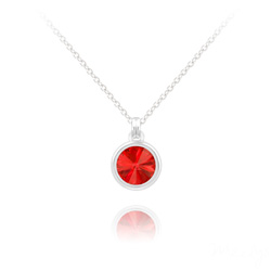 Collier Mini Rivoli 6MM en Argent et Cristal Rouge Light Siam