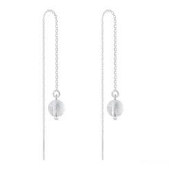 Chaînes d'Oreilles en Argent et Pierres Naturelles 6MM - Cristal de Roche