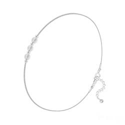 Bracelet en Argent et 3 Pierres Naturelles 4MM - Cristal de Roche