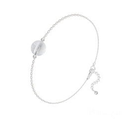 Bracelet Perle Ronde 8mm en Argent et Pierre Naturelle - Cristal de Roche