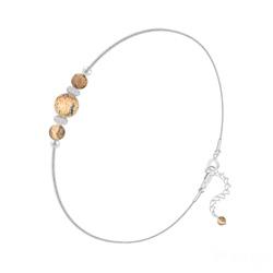 Bracelet en Pierre Naturelle Bracelet 3 Perles Rondes 4mm/6mm en Argent et Pierres Naturelles - Jaspe Paysage