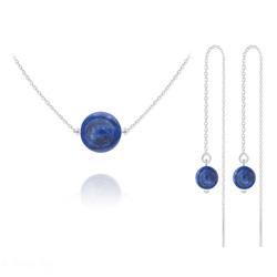 Parure en Argent et Pierres Naturelles 10mm / 6mm - Lapis Lazuli