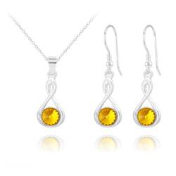 Parure Infinity Rivoli en Argent et Cristal Sun Flower