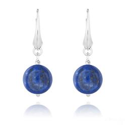Boucles d'Oreilles Dormeuses Pierres Naturelles 12mm - Lapis Lazuli