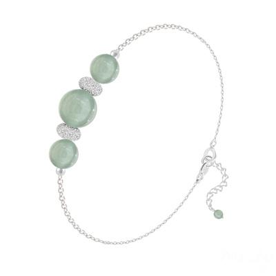 Bracelet en Pierre Naturelle Bracelet 3 Perles Rondes 6mm/8mm en Argent et Pierres Naturelles - Aventurine