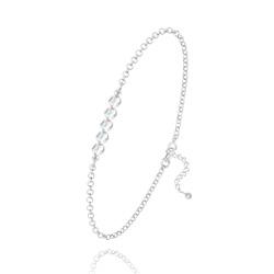 Bracelet 5 Perles à Facettes en Cristal et Argent - Aurore Boréale
