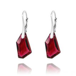 Boucles d'Oreilles Mini De-Art en Argent et Cristal Ruby