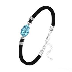 Bracelet Scarabée en Cristal et Argent - Bleu