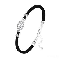 Bracelet Scarabée en Cristal et Argent - Blanc