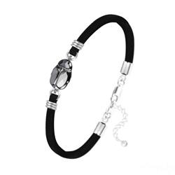 Bracelet Scarabée en Cristal et Argent - Silver Night