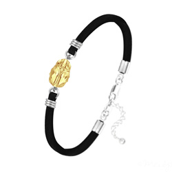 Bracelet Scarabée en Cristal et Argent - Metallic Sunshine