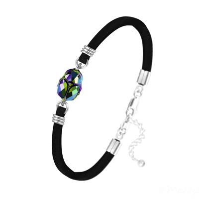 Bracelet en Cristal et Argent Bracelet Scarabée en Cristal et Argent - Scarabaeus Green