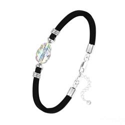 Bracelet Scarabée en Cristal et Argent - Aurore Boréale