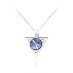 Collier Triangle Rivoli 8mm en Argent et Cristal Tanzanite