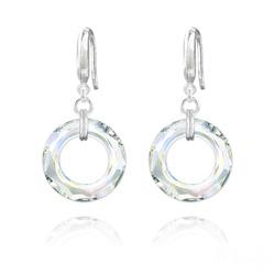 Boucles d'Oreilles Cosmic Ring 20MM en Argent et Cristal Aurore Boréale