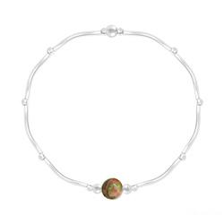 Bracelet Torsadé en Argent et Pierres Naturelles 6MM - Unakite