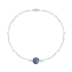 Bracelet Torsadé en Argent et Pierres Naturelles 6MM - Sodalite