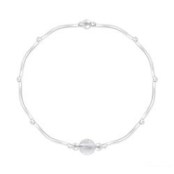 Bracelet Torsadé en Argent et Pierres Naturelles 6MM - Cristal de Roche