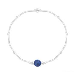 Bracelet Torsadé en Argent et Pierres Naturelles 6MM - Lapis Lazuli
