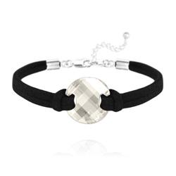 Bracelet Twist en Argent et Cristal Silver Shade