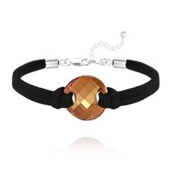 Bracelet Twist en Argent et Cristal Crystal Copper