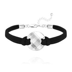 Bracelet Twist en Argent et Cristal Blanc