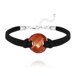 Bracelet Twist en Argent et Cristal Red Magma