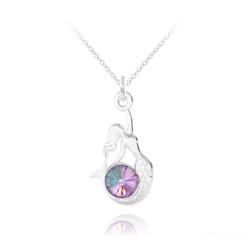 Collier Sirène en Argent et Cristal Vitrail Light