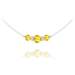 Wholesale Faceted Beads 6mm/8mm Silver Choker with Swarovski Crystal - Sun Flower
