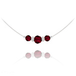 Wholesale Faceted Beads 6mm/8mm Silver Choker with Swarovski Crystal - Siam