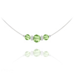 Wholesale Faceted Beads 6mm/8mm Silver Choker with Swarovski Crystal - Peridot