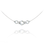 Wholesale Faceted Beads 6mm/8mm Silver Choker with Swarovski Crystal - Cal Fc