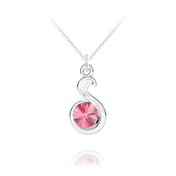 Collier Serpent Rivoli en Argent et Cristal Light Rose