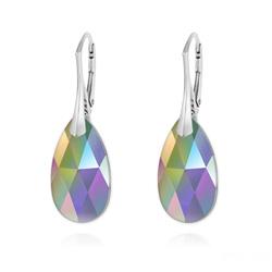Boucles d'Oreilles Goutte 22MM v2 en Argent et Cristal Paradise Shine