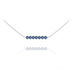 Wholesale 7 Faceted Beads 4mm Silver Choker with Swarovski Crystal - Montana