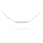 Wholesale 7 Faceted Beads 4mm Silver Choker with Swarovski Crystal - Cal Fc