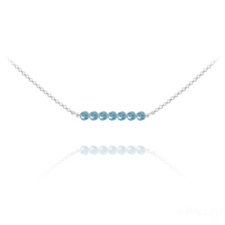 Wholesale 7 Faceted Beads 4mm Silver Choker with Swarovski Crystal