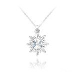 Wholesale Sun Silver Necklace with Swarovski Crystal - White