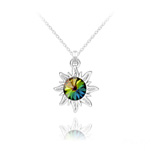 Wholesale Sun Silver Necklace with Swarovski Crystal - Vitrail Medium