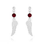 Wholesale Angel Wing Crystal and Silver Earrings - Siam