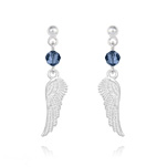 Wholesale Angel Wing Crystal and Silver Earrings - Montana