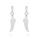 Wholesale Angel Wing Crystal and Silver Earrings - Cal Fc