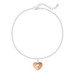 Bracelet Coeur 10mm en Argent et Cristal Rose Gold