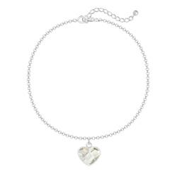 Bracelet Coeur 10mm en Argent et Cristal Blanc