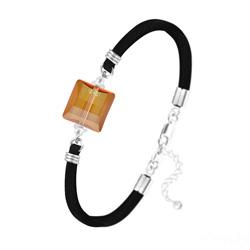 Bracelet Stairway 14mm en Argent et Cristal Copper
