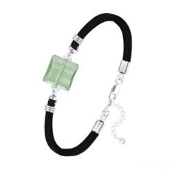 Bracelet Stairway 14mm en Argent et Cristal Vert Péridot