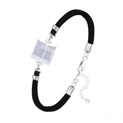 Bracelet Stairway 14mm en Argent et Cristal Blanc