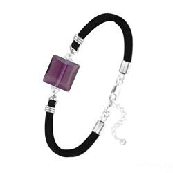 Bracelet Stairway 14mm en Argent et Cristal Améthyste