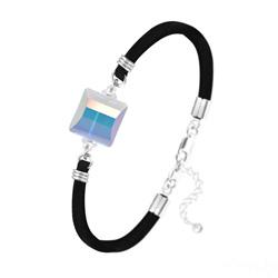Bracelet Stairway 14mm en Argent et Cristal Aurore Boréale