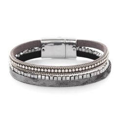 Bracelet Fashion Gris Aimanté